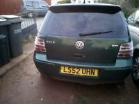 MK4 GOLF GTI 1.8TURBO 20V SPARES OR REPAIRS