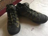 Clark's men's trainers size 7 green-black used good condition £15