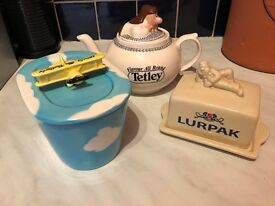 Tea Pot Butter Dish Collectable Tetley Lurpak