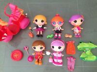 Larg LaLaLoopsy Bundle of Littles and Scooter   All in Perfect Condition