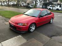 1995 HONDA CIVIC COUPE RED ONLY COVERED 36k MILES *RARE*