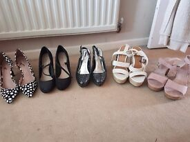 Selection of ladies shoes, size 6, 6.5 and 7