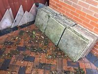 Patio slabs for free (only the 6 halfs)