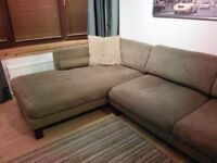Corner Sofa with bolster and scatter cushions