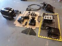 50 HP Mercury Outboard Engine/Gearbox parts. Garage Clearance