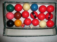 snooker balls half size suitable for 6ft x 3 ft table