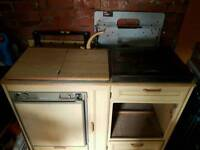 Fridge sink and cooker unit