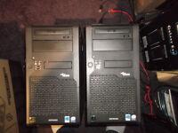 2x Fujitsu Esprimo Core 2 Duo E6750 Pc's