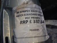 Peugeot 308 rear bumper 2007 - 2011