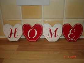 Wooden 'Home' Sign