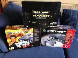 N64 Nintendo 64 boxed consoles