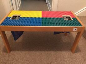 Wooden lego table