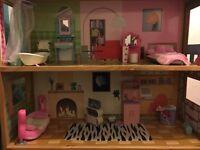 Large 4 storey dolls house