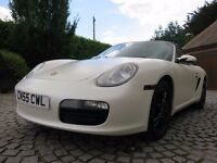 PORSCHE BOXSTER 987 - STUNNING PEARLESCENT WHITE - FULL SERVICE HISTORY