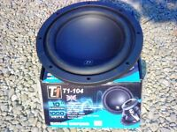 "2X BRAND NEW IN BOX CAR STEREO 10"" SUB WOOFERS 1000W"