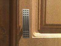 25 x Silver coloured metal cupboard door handles