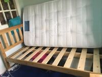 3ft 6 inch pine bed