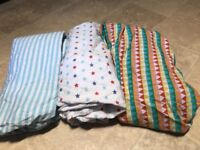 Baby cotbed sheets x 3