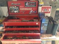 Snap-on tool box with some snap-on