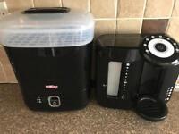 Black perfect prep machine & nuby dryer sterilizer