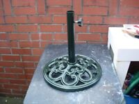FOR SALE WROUGHT IRON PARASOL BASE.