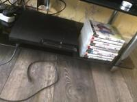 PS3 with 9 games one controller