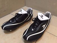 black and white studded Diadora Football Boots, size 10, never used