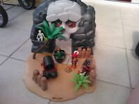 Playmobile Pirate ship and Cave Carry Case