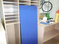 Blue privacy panal for office desk