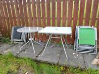 2 glass outside outdoor tables and chairs furniture