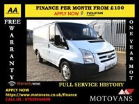 Ford Transit 2.2 280, One Owner - Direct From company 1 YR MOT, Warranty,113K Miles