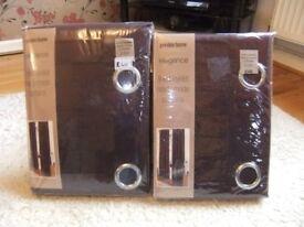 "Ponden Home brand new burgundy eyelet curtains 66"" x 72"" & 66"" x 90"""