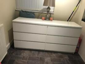 Ikea double drawers & mirrored wardrobe