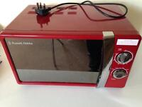 Red Russell Hobbs 700w microwave
