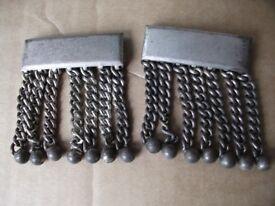 Freemasons Masonic Regalia. Chain & balls, matching pair.