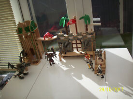 EARLY LEARNING CENTRE WOODEN FORTRESS,ELC KNIGHTS AND MONSTERS OF OTHER BRANDS