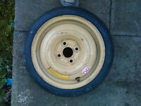 Honda Civic 4x100 space saver wheel (Dunlop tyre)
