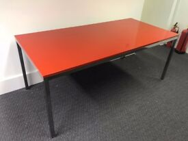 *USED* Red office desk - large!!