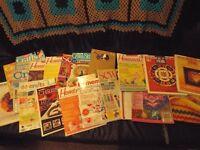 Job lot of craft magazines and books