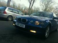 """BMW COMPACT SERIES 116TI LONG MOT/LEATHERS """"#PEUGEOT 307 ALSO"""" / GREAT CAR / PETROL / CD USB PLAYER"""