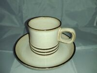 6 DENBY COFFEE CUPS and SAUCERS