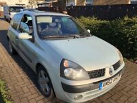 Renault Clio Dynamique 16V 1149cc Petrol 5 speed manual 3 door hatchback 52 Plate 25/10/2002 Silver
