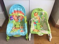 Fisher price newborn to toddler rocker / chairs