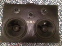 Beautiful portable speaker box in original 1940s railway case