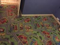 Children's carpet with roads & buildings