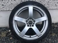 18INCH 5/114, 5/100 BELLINI ALLOY WHEELS FIT TOYOTA SEAT NISSAN MITSUBISHI VW MAZDA ETC WITH TYRES