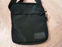 Black Lacoste cross over body man bag