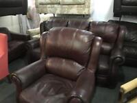 As new top grade leather 3 and 1 Sofas