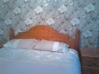 king size bed, wooden slats good quality ( NO MATTRESS )