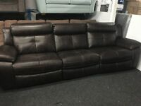 New/Ex Display LazyBoy Brow/Black Large 3/4 Seater Recliner sofa